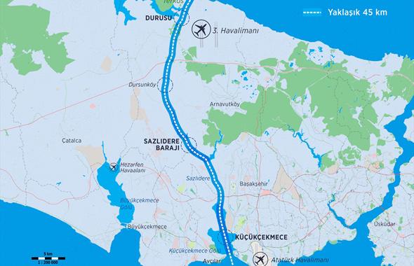 Kanal İstanbul güzergahı haritasına bakın!