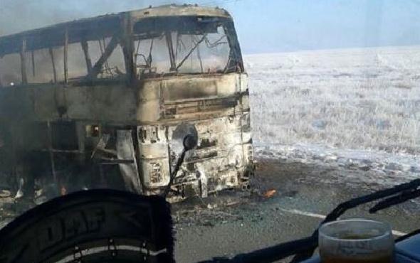 Otobüs faciası! 52 kişi diri diri yandı