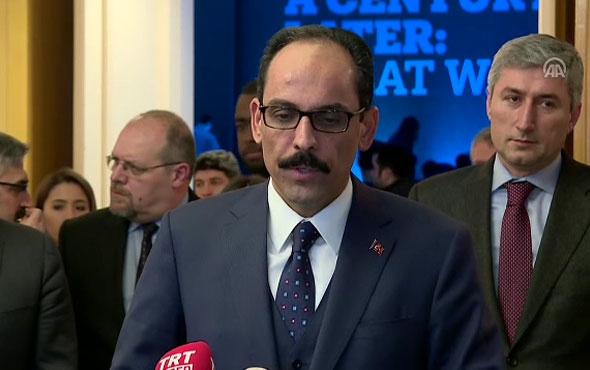 İbrahim Kalın: Türkiye kimseden icazet almadan bu tedbirleri almaya devam edecektir