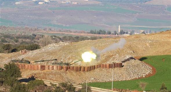 TSK Afrin'deki terör örgütü PYD/PKK mevzilerini vurdu