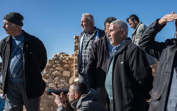 Köylüler sınıra koşup bombardımanı izledi