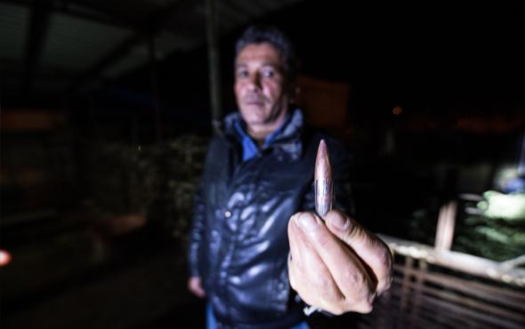 Sınır hattında bulunan 2 eve uçaksavar mermisi isabet etti