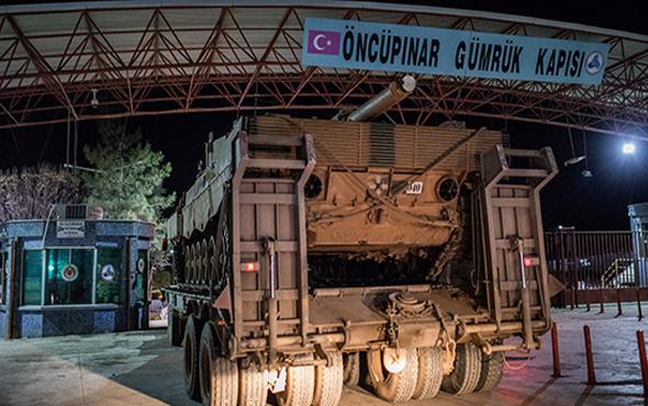 Tanklar sınır kapısından Suriye'ye geçti