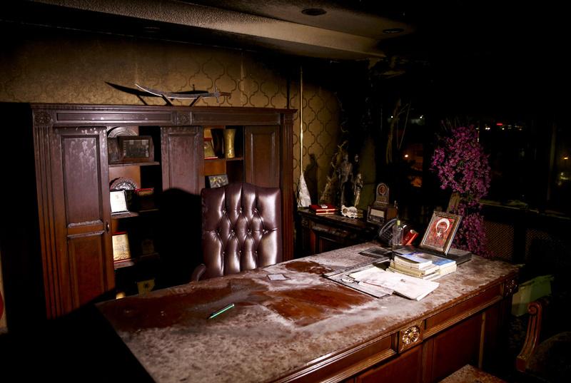BBP lideri Destici patlamanın yaşandığı makam odasında