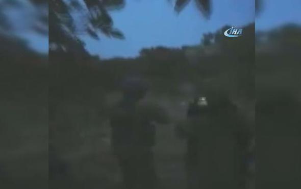 İki terörist böyle öldürüldü! Askerler arasındaki diyaloglara dikkat...