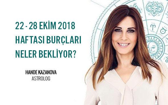 Hande Kazanova 22 28 Ekim 2018 Haftalık Burç Yorumları