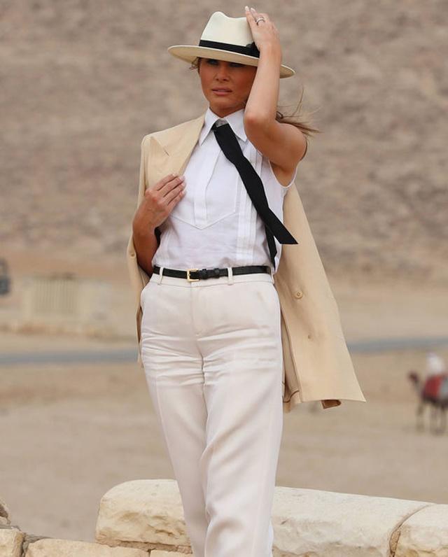 Melania Trump'ın Afrika kıyafetleri gündem oldu