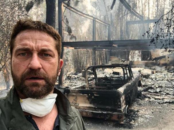 Kaliforniya'da facia Hollywood yıldızları kül olan evlerini böyle paylaştı