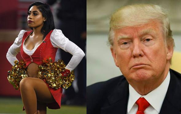Ponpon kız Donald Trump'ı protesto etti yaptığı hareket olay oldu