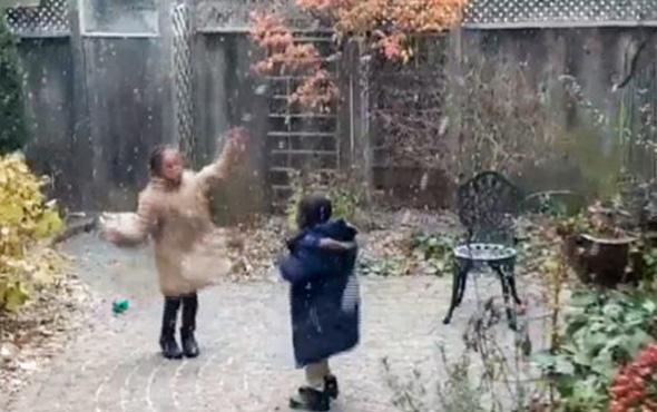 Afrikalı çocukların ilk kar sevinci