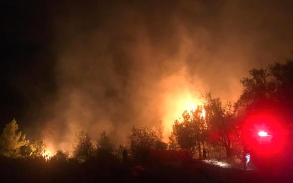Anamur'da korkutan yangın