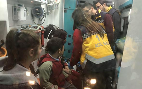 Yürekleri ağza getiren yangın! 5 çocuk kurtarıldı