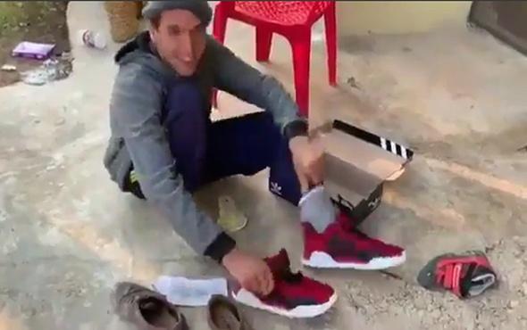 Engelli gencin ayakkabı sevinci göz yaşarttı!