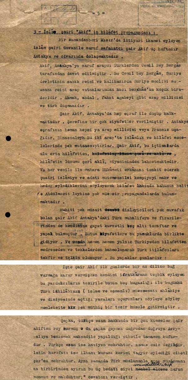 İstiklal Marşı'nın şairi Mehmet Akif'e tek parti zulmü 'irtica 906' diye kodlanmış