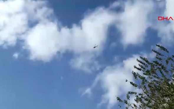 Denizli'de eğitim uçağı düştü arama kurtarma çalışması başladı