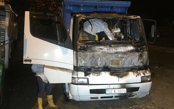 Karabük'te yanan kamyonun içinden ceset çıktı