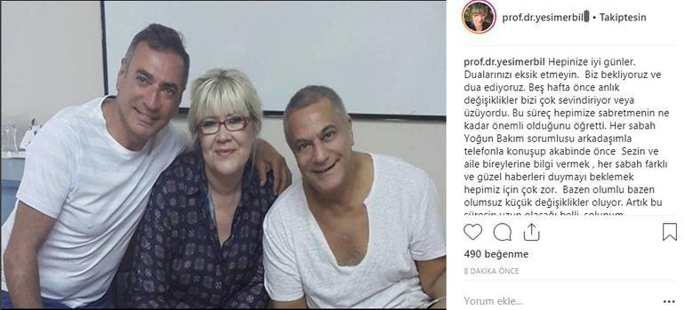 Mehmet Ali Erbil'in son durumunu Yeşim Erbil açıkladı! Hadi abicim...