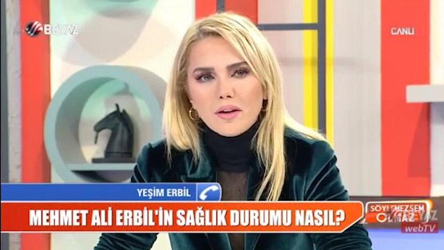 Mehmet Ali Erbil'in gırtlağına delik mi açıldı! Yeşim Erbil'den yeni açıklama