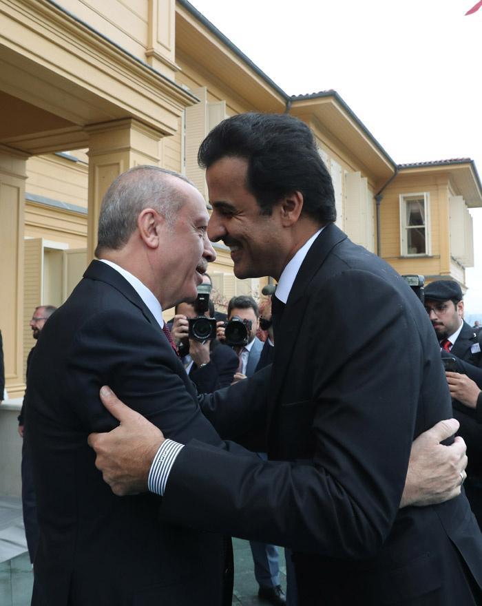 Cumhurbaşkanı Erdoğan Katar Emiri ile bir araya geldi