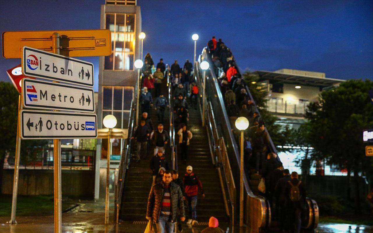 İzmir'de ulaşımı felç eden grev başladı İZBAN durdu