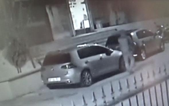 Sekerek yürüyen hırsız motosiklet çaldı