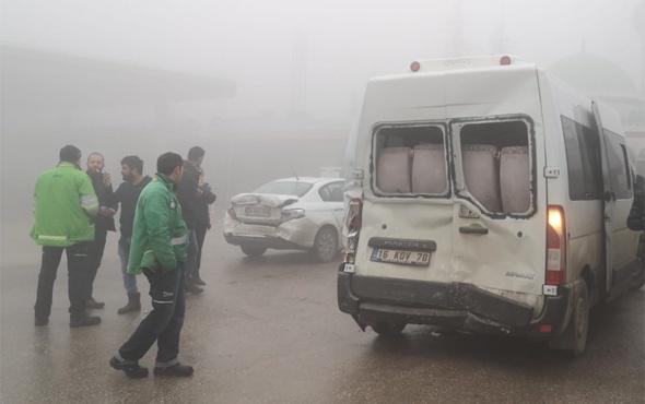 Bursa'da 7 araç birbirine girdi yaralılar var