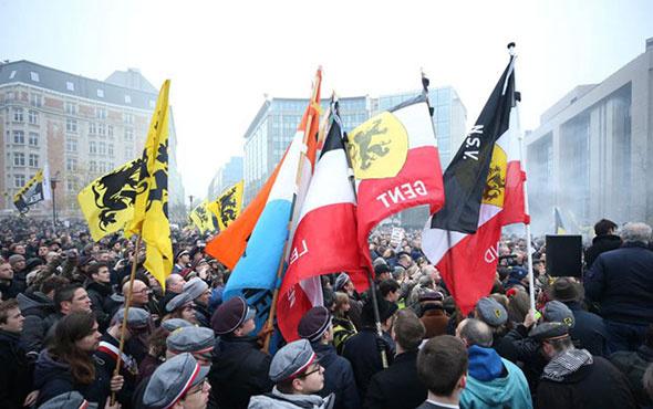 Belçika savaş alanına döndü! Bine yakın gösterici sokakta