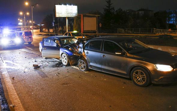 Ehliyetine daha önce el koyulan sürücü alkollüyken kaza yaptı