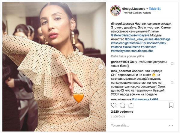 Milletvekili transparan kıyafetle çıkınca Kazakistan fena karıştı