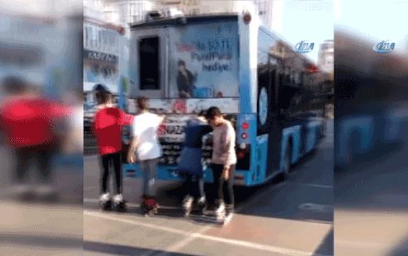 Antalya'da patenci gençlerin yürekleri ağza getiren yolculuğu