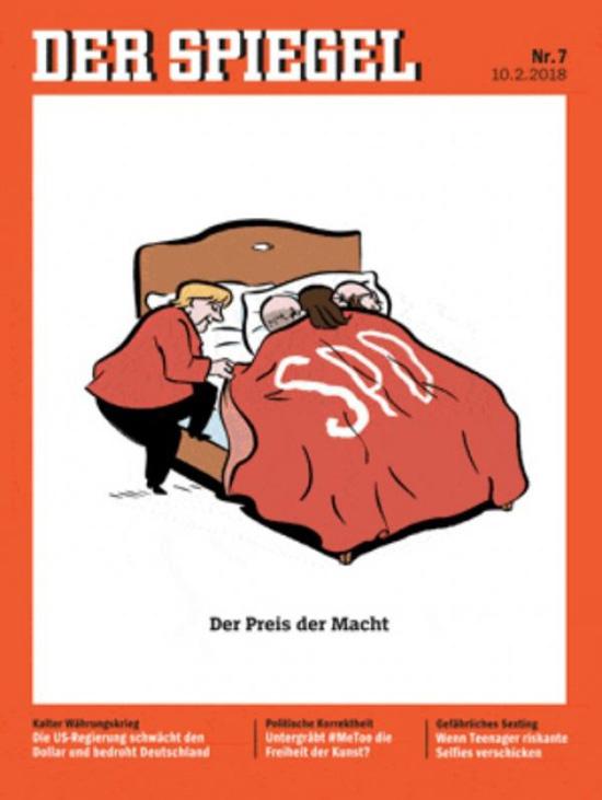 Der Spiegel'dan olay kapak! Merkel'i çırılçıplak soyup...