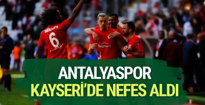 Antalyaspor Kayserispor maçı golleri ve sonucu