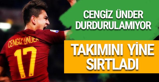 Cengiz Ünder yine gol attı Roma kazandı!