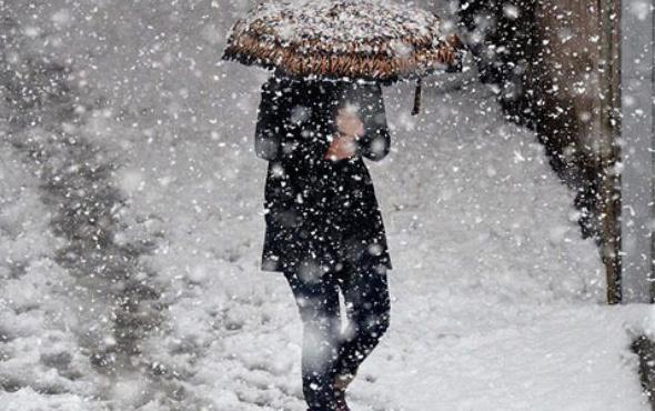Bayburt hava durumu kar sert başladı