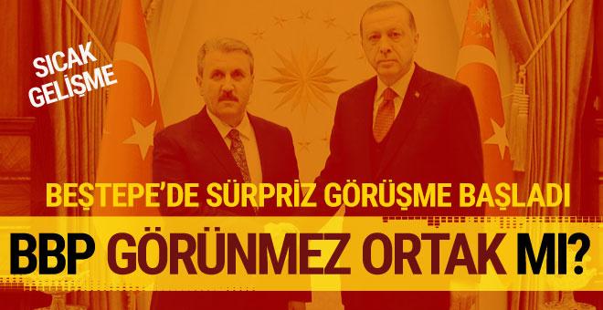 Erdoğan ile Destici görüşüyor! BBP 'görünmez ortak'...