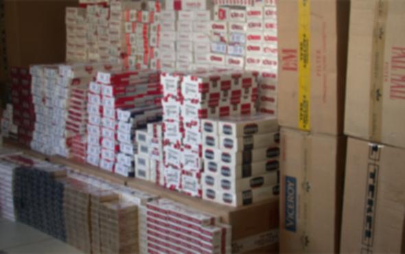 Aksaray'da kaçak sigara operasyonu
