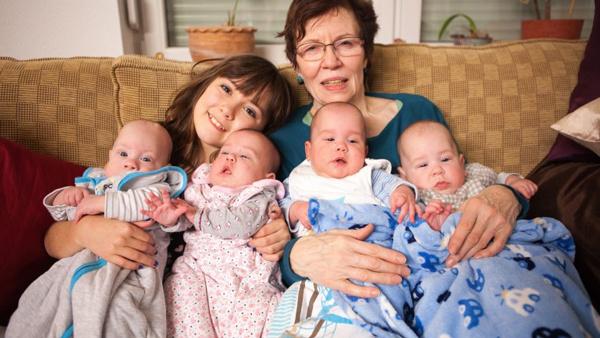 70 yaşındaki kadın dördüz doğurdu bebeğin babası ise iğrenç!