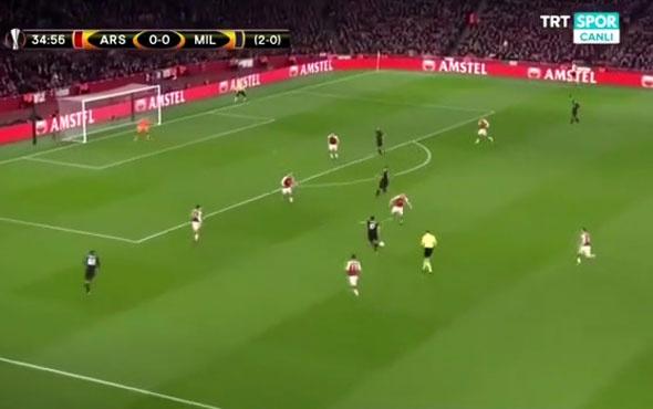 Hakan Çalhanoğlu, Arsenal'a attığı golle parmak ısırttı