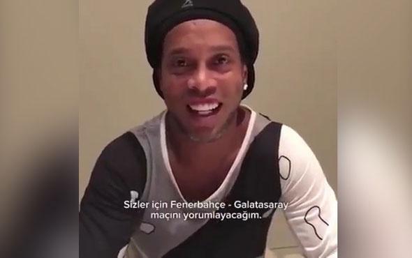 Ronaldinho'dan Fenerbahçe Galatasaray derbi tahmini