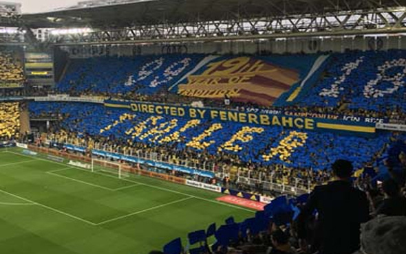 Fenerbahçe'den Galatasaray'a koreografili gönderme