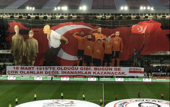 Başakşehir'den Çanakkale ve Afrinli koreografi