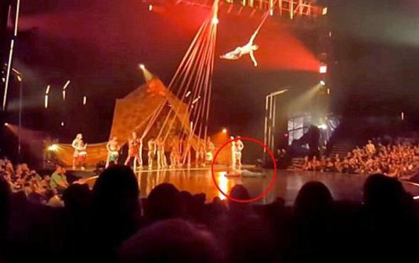 Cirque du Soleil'de şok! Dansçı metrelerce yükseklikten düştü