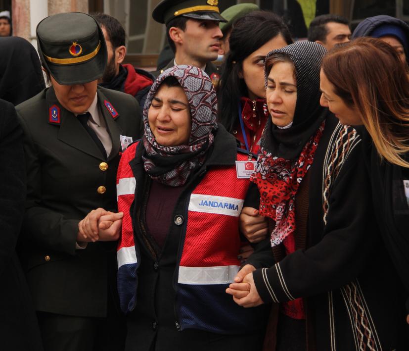 Türkiye yasa boğulmuştu: Afrin şehitlerine son veda!