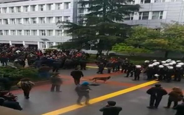 Boğaziçi Üniversitesinde polis müdahalesi: 8 gözaltı!