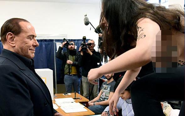 İtalya eski başbakanı Berlusconi'ye Femen şoku!