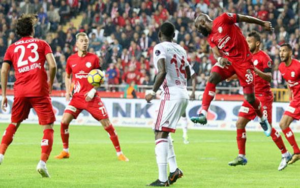 Antalyaspor Sivasspor maçı sonucu ve özeti