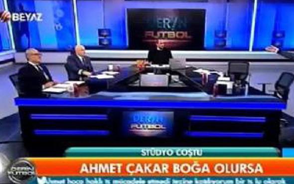 Ahmet Çakar canlı yayında boğa oldu stüdyo yıkıldı!