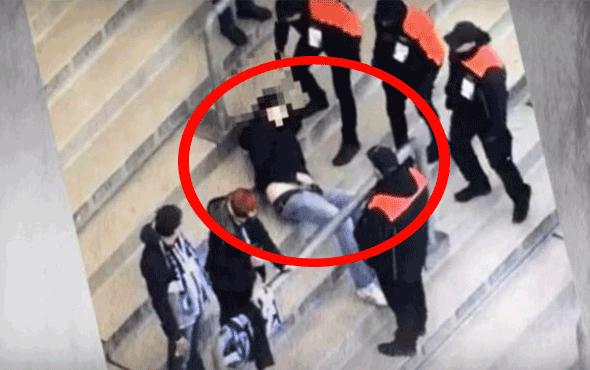 Şoke eden görüntüler! Tribünde mastürbasyon yaptı polis müdahale etti