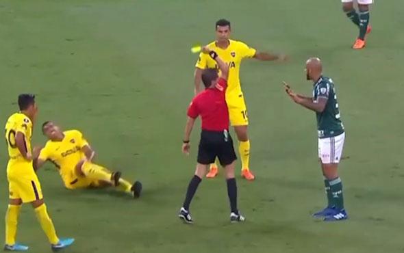 Felipe Melo'dan rakibine acımasız hareket!