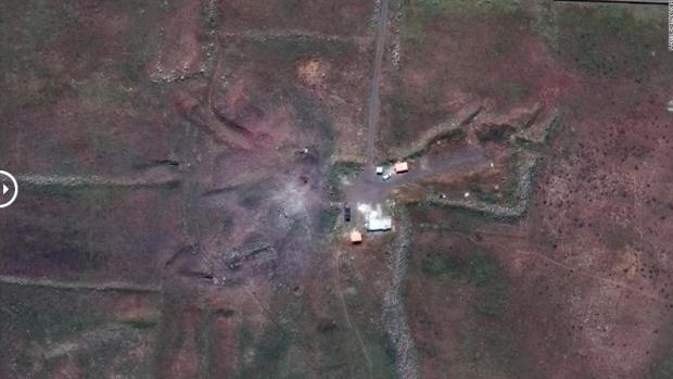 Suriye'deki tesisler böyle vuruldu! İşte uydu görüntüleri